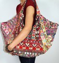 Banzara Gypsy Tribal Tote Bag Sari Handbags