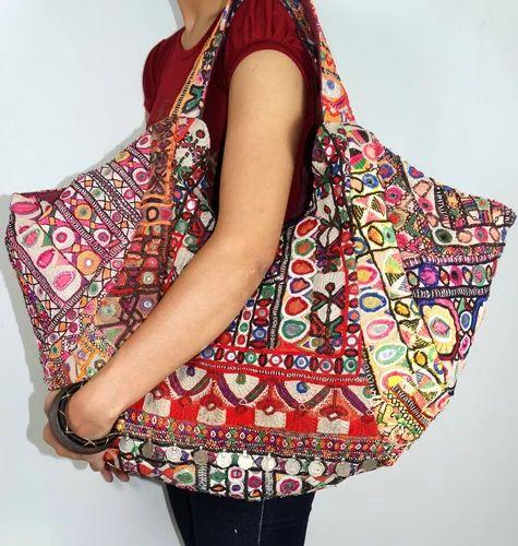 Banzara Gypsy Tribal Tote Bag Sari Handbags J K Handicraft