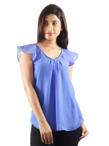 b8884cbe3dce Ladies Georgette Tops - Casual Wear Top Manufacturer from New Delhi
