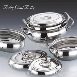 Baby Oval Belly Stainless Steel Utensil Set