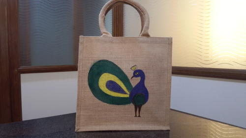 Manufacturer Of Hand Painted Jute Bags Jute Drawstring Bags By Jay