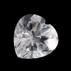 Crystal Quartz Heart Shape Gemstone
