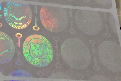 Seal Of Authenticity Holographic Overlay For Cards Documents at Rs ...
