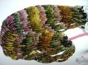Multi-Tourmaline Gemstone Faceted Rondelle 3-4mm Bead Strand