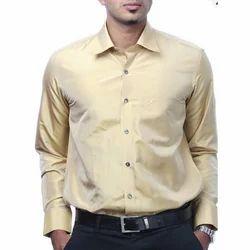 Light Yellow Silk Shirt