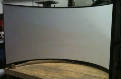 sim racing curved projection screen