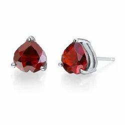 Multi Size Garnet Earring
