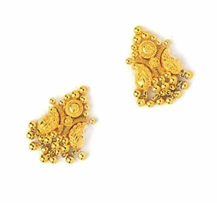 Gold Earrings Jewelry Designer Gold Earrings Exporter from Jaipur