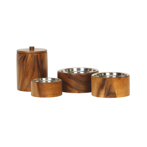 Wood Pet Bowl for Home Purpose