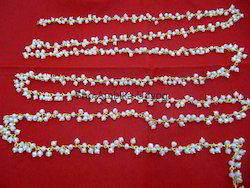 White Chalcedony Bead Chain