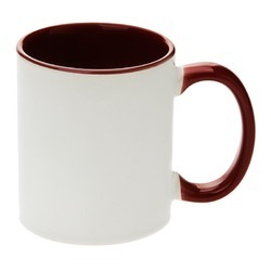 Two Tone Maroon Mugs