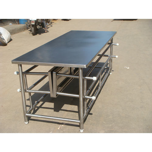 Canteen Furniture - Stainless Steel Canteen Table With