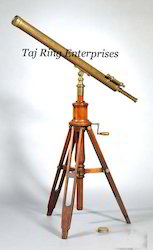 Nautical Antique Telescope With Stand