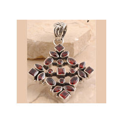 Sassy Garnet Pendent Set in 925 Sterling Silver
