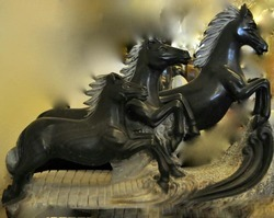 Horse Stone Sculptures