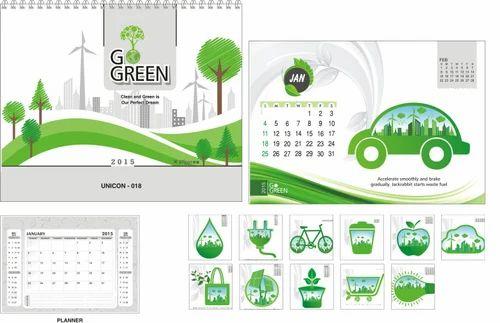 Desk Calendar 2020.2020 Go Green Desk Calendars
