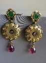 High Gold Antique Earrings
