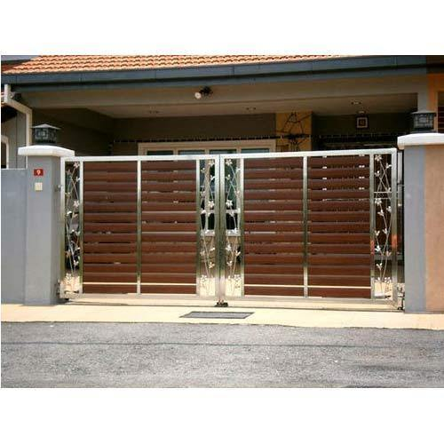 Stainless Steel Gate Designs With Wood