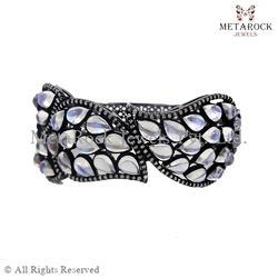 Moon Stone Diamond Bangle Jewelry