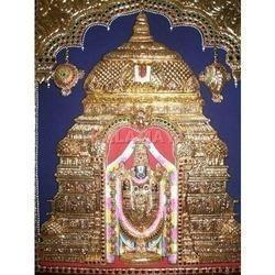 Tirupathi Balaji Embossed Tanjore Paintings