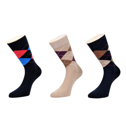 ROYAL SOCKS Multicolor Special Argyle Socks, Size: Free Size