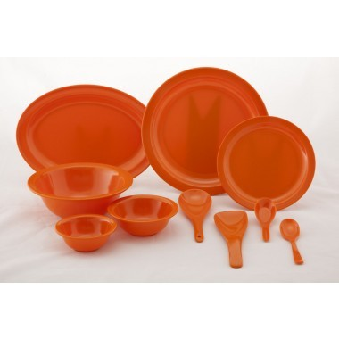Orange Orange Melamine Dinner Set