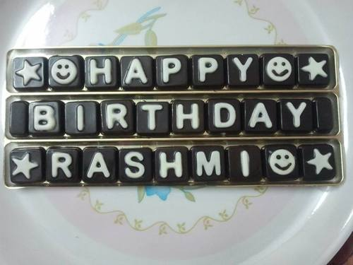 Birthday Wishes Chocolate At 100 Number