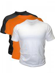 Polyester Plain Round Neck T Shirts