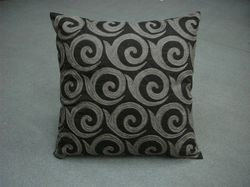 Grey & Black Designer Cushion Cover