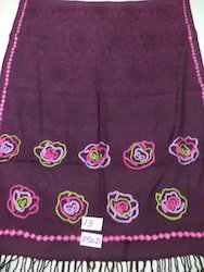 Viscose Floral Embroidered Border Shawl