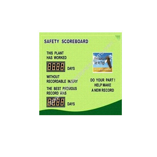 Safety Scoreboard Display, Shape: Rectangle
