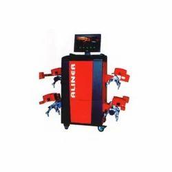 Semi-Automatic Radio Technology Wheel Alignment Machine