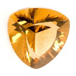 Synthetic Lab Created Stone Citrine Tapper Cut