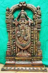 Lord Balaji In Wood 3 Feet