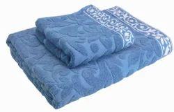 Cotton Plain Jacquard Bath Towels