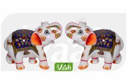 Vaah White Marble Elephants