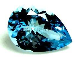 Swiss Blue Topaz Pear Faceted Gemstone
