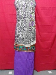 Stylish Chanderi Embroidery Suit