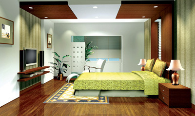 Elegant Home Interiors Calicut Bedroom Interior Work