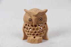 Wooden Jaali Owl