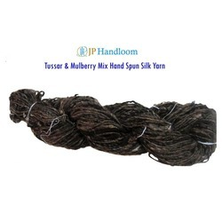 Tussar and Mulberry Mix Hand Spun Silk Yarn