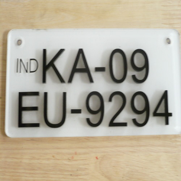 Name Plate Number Plates Manufacturer From Mysore