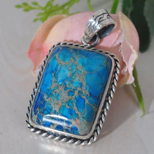 Rainbow moonstone and jasper encased in 925 silver pendant necklace handmade