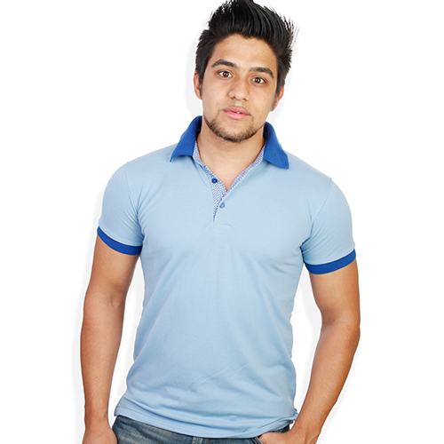 3575fff082a30c Men Light Blu Semi Formal T-Shirt, Gents T-Shirts, Men T shirts ...