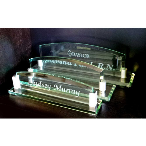 acrylic counter top name plate gd enterprise manufacturer in