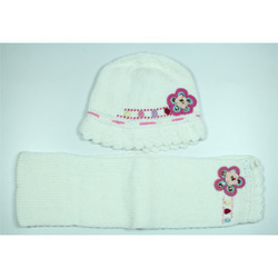 Kids White Winter Cap