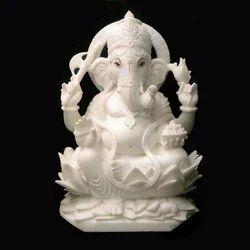 Handecor Jaipur Marble Ganesha Idol Statue