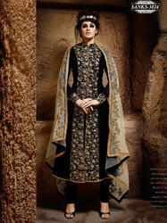 Black Embroidery Salwar Suit