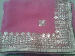 Gota Patti Saree - Hand Work