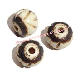 White Bone Carved Beads Premium Export Company Manufacturer In Sigra Varanasi Id 8158936697